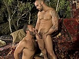 Bearded hotties Wilfried and Damien hook up in a flip flop fuck