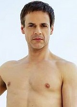 Male celebrity Christian LeBlanc posing shirtless