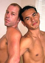 Latino and euro muscles mutual fucking and facials