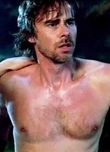 Male celebrity Sam Merlotte fully nude movie scene
