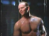 Male celebrity Ian Ziering fully naked in a shower