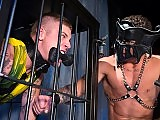 Muscle gay master fucks his slave doggy style
