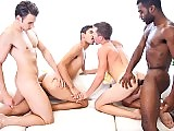 A bunch of gay studs raw foursome all the way