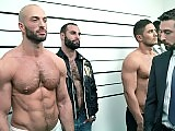 Hunky studs have a wild orgy at the police station
