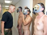 Army crew  fantasy performing naked for hard sex
