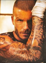David Beckham sexy posing pictures
