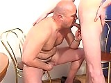 Mature dude's pasted in cum on School Boy Secrets