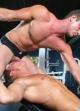 Gym buddies Gavin Watters and Rusty Stevens have been admiring their transforming bodies since they started working out together. It was only a matter of time till they compared arms, chests and legs. Lucky for us, they wanted to compare some other body p