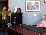 The office manager gets fucked by the visitor