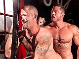 Muscle gay men with big cocks fuck deep and hard