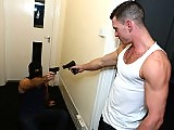 Gays robbers Paddy O'Brian and McKensie Cross fuck