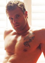 Nick Youngquest shirtless and posing in underwear