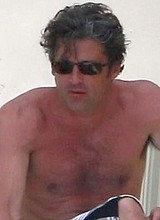 Patrick Dempsey paparazzi shirtless beach photos