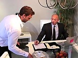 The waiter Rocco Reed gets screwed by John Magnum