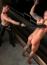 New dom Tristan Jaxx ties up studly Drake Jaden and gives him a bondage fuck.