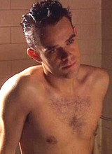 Nick Stahl shirtless in a bathroom