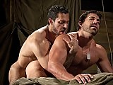 Adam massages Vinces muscles as they begin caressing and admiring