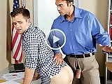 Male teacher Rocco Reed spanking and fucking a boy