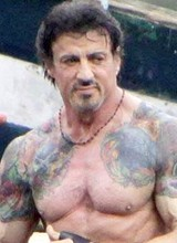 Sylvester Stallone shows great cock