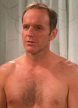 Male celebrity Clark Gregg shirtless movie scenes