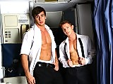 Horny Airline Pilots ass fucking in the aircraft
