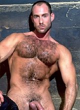 Bear and smooth fucking and cumming in the hayloft