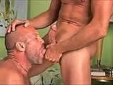 Troy expertly swallows Chads cock to the hilt