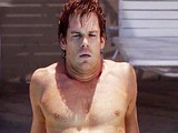Male celebrity Michael C Hall sunbathing shirtless