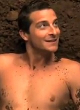 Sexy Bear Grylls flashes his gorgeous cock and ass