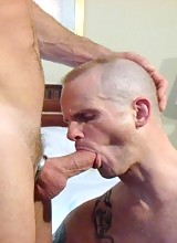 Wow!!! Wow!!! Wow!!! Is the best way to describe this Fucken hot bareback scene... Thomas Steel, a hot aggressive raw top stud works over our newest model Peter Bender... and work him over he does...