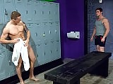 Gay jocks hardcore ass fucking in the locker room