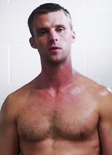 Male celebrity Jesse Spencer flashing his bare ass