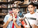Two horny teen gay boys fuck at the stock store