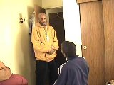 Black gangsta man drilling tender stud in hotel