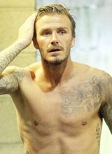 Male celebrity David Beckham paparazzi nude photos
