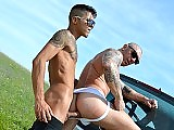 Alejandro Mango and Francesco DMacho outdoor fuck