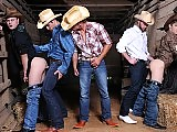 Two younger cowboys get fucked by the older ones