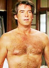 Male celebrity Pierce Brosnan nude movie scenes