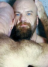 Hairy muscle matures in leather enjoyin each other