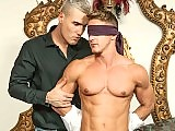 Masked muscle gay man getting butt fucked hard