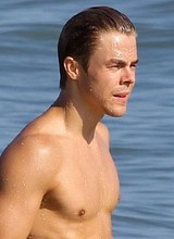 Celeb actor Derek Hough paparazzi shirtless photos