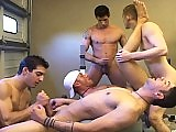 Five hot buddies have a satisfying work out in the gym!