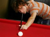 Two cute twinks playing pool undress to hot sex!