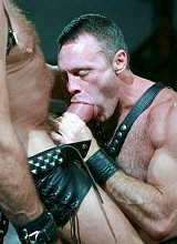 Mature muscle bears sucking and fucking in dungeon