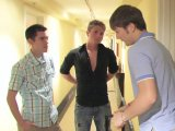 Beddable dudes hooking up in the hotel for sex!