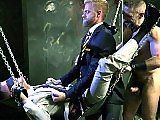 Office gay stud gets abused by the two older men