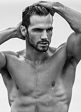 Male celebrity Adam Cowie nude and underwear shots