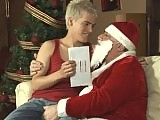 Santa gives a twink a cock to suck for Christmas on School Boy Secrets