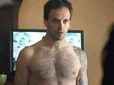 Male celebrity Jonny Lee Miller shirtless scenes