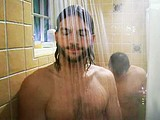 Male celebrity Ashton Kutcher naked shower scenes